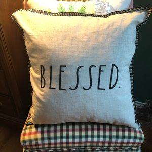 Rae Dunn Other - NEW Rae Dunn BLESSED Throw Pillow